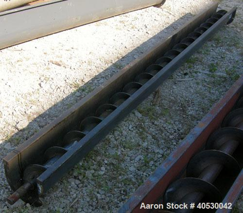 "Used- Screw conveyor section, carbon steel, consisting of (1) 6"" diameter x 118"" long x 3"" pitch, (1) trough section 6 3/4"" ..."