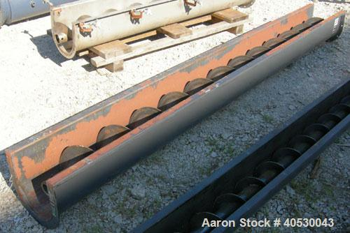"""Used- Screw conveyor section, carbon steel, consisting of (1) 9"""" diameter x 117"""" long x 4 1/2"""" pitch, (1) trough section 10""""..."""