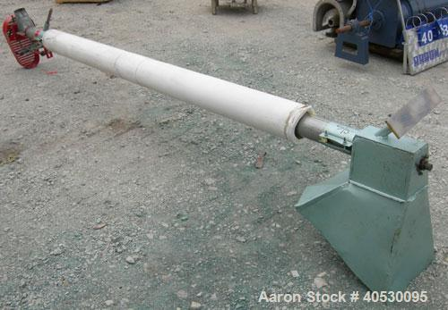 """Used- Hutchinson Wil-Rich Manufacturing Screw Conveyor, carbon steel. Approximately 3 1/2"""" diameter x 144"""" long x 1 3/4"""" cen..."""
