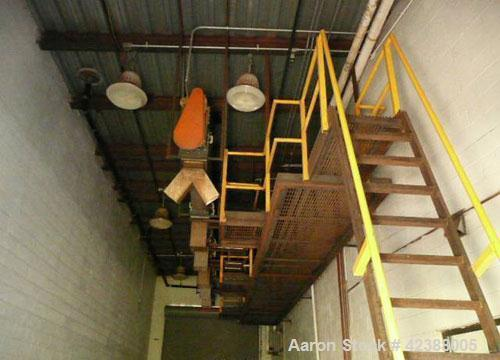 """Used- Bi-Directional Screw Conveyor Approx. 27'L X 12""""W  Ceiling Mounted"""