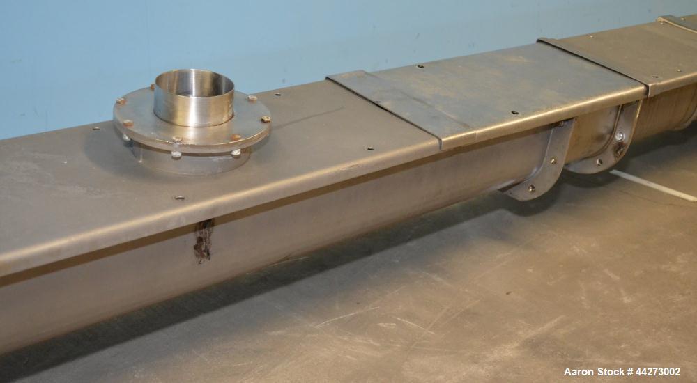 Used- Stainless Steel Horizontal Screw Conveyor