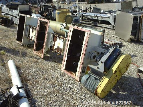 "USED: 12"" X 12"" long steel screw conveyor with Falk shaft mountspeed reducer #4307J and 15 hp motor. Originally designed to ..."