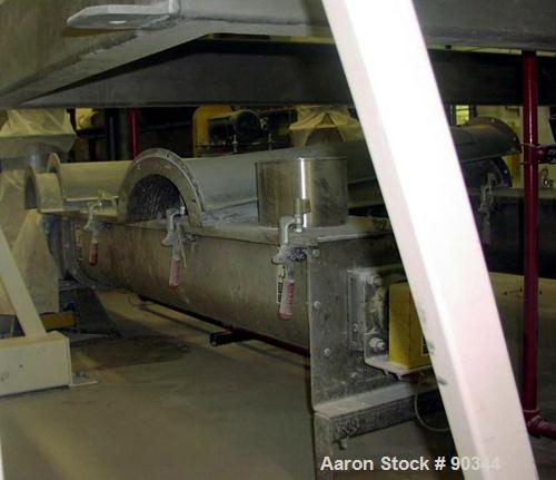 """Unused-USED: Screw conveyor 9"""" diameter x 67"""" long. 1.5 hp/46 rpm, counter-clockwise."""