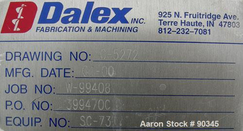 "Unused-USED:Dalex screw conveyor, 304 stainless steel, 2 section horizontal with a vertical riser.  Horizontal section 9"" di..."