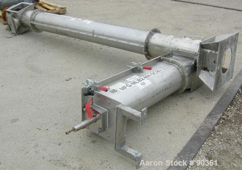 "Unused-USED: Screw Conveyor, 304 stainless steel, 2 section horizontal with a vertical riser.  Horizontal section 9"" diamete..."