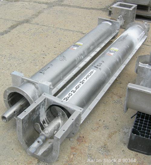 """Unused-USED: Screw conveyor 9"""" diameter x 6' long. 3 hp/43 rpm, clockwise."""
