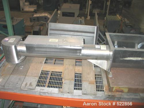 "USED: 8"" x 72"" Acrison stainless steel screw feeder, model I40/T2.8"" diameter screw with heavy duty overwrap in feed trough ..."