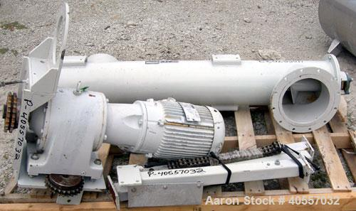 Used- Carbon Steel Azo Screw Conveyor, Model 250