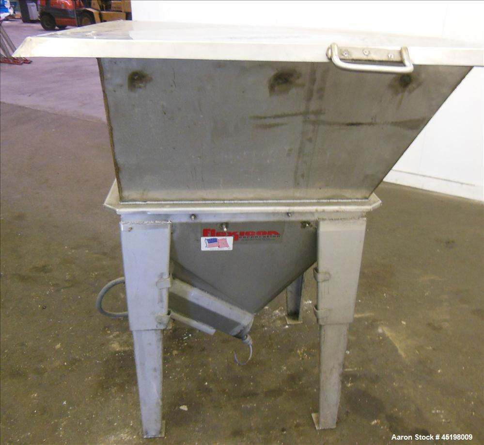 "Used- Hapman Flexible Screw Conveyor Parts Consisting Of: (1) 36"" x 36"" x 35"" deep feed hopper with a 1 piece cover, (1) 5hp..."