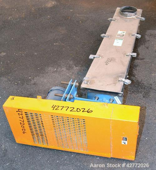 "Used- FMC Horizontal Screw Conveyor, 304 Stainless Steel. Approximate 9"" diameter x 48"" long x 4-1/2"" pitch screw. Trough 7""..."