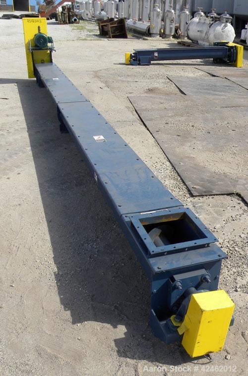 "Unused- Goodman Conveyor Company Screw Conveyor, Carbon Steel. 9"" Diameter x 224"" long x 9'' pitch screw, 10"" wide trough wi..."