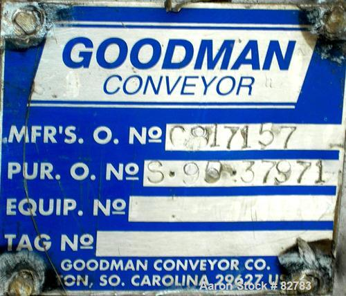 "Unused-UNUSED: Goodman screw conveyor, 304 stainless steel, horizontal. 24"" diameter x 13'1"" long x 12"" pitch screw. 4"" diam..."