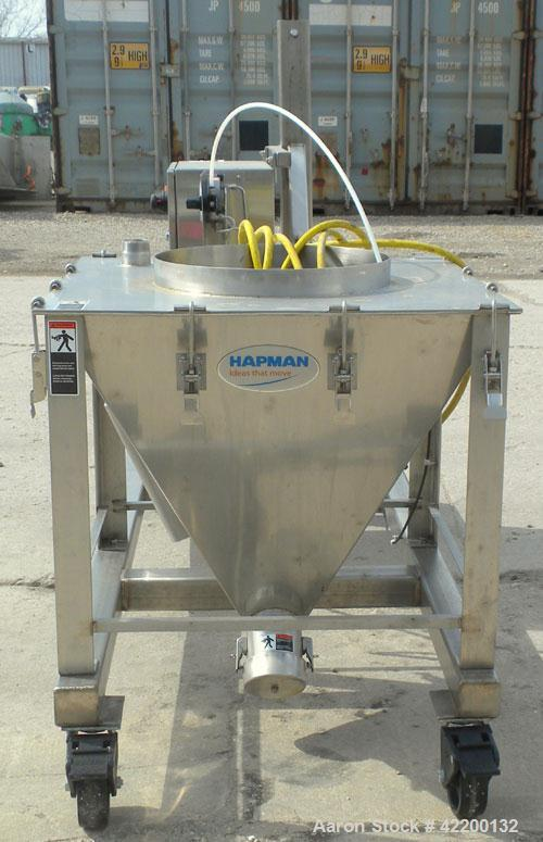 Used- Hapman Mobile Helix Flexible Screw Conveyor, model DO4-HC-0302, 304 stainless steel. (2) 3-1/2'' diameter x 180'' long...