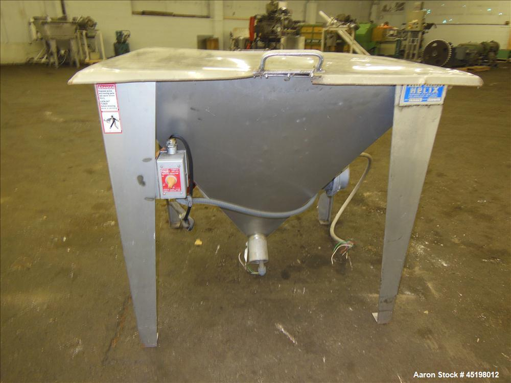 """Used- Hapman Flexible Screw Conveyor Parts Consisting Of: (1) 35"""" x 29"""" x 41"""" deep feed hopper with a 1 piece cover, (1) 1.5..."""