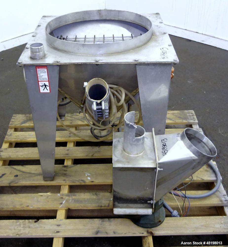 """Used- Hapman Flexible Screw Conveyor Parts Consisting Of: (1) 24"""" x 24"""" x 20"""" deep feed hopper with a 1 piece cover, (1) dri..."""