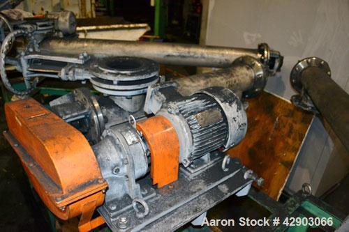 Used-Hosokawa Micron Screw Conveyor, Model SC-15-1040, Stainless Steel Approximate 6'' diameter x 38'' long screw, 6-1/2'' d...