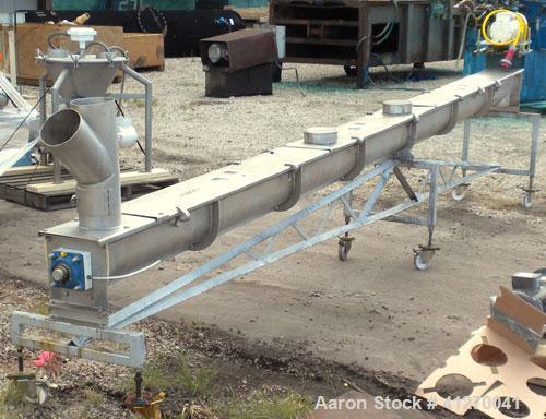 "Used- KWS Screw Conveyor, model 6X17-3-1/4, 304 stainless steel, horizontal. 6"" diameter x 207"" long x approximate 3"" pitch,..."