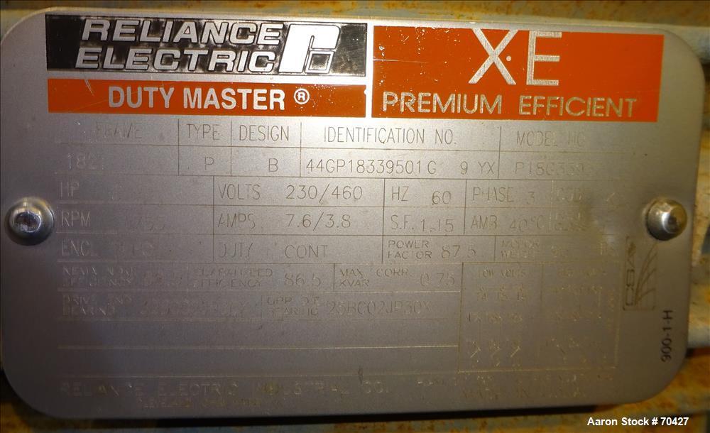 Used-Unused Stainless Steel KWS Screw Conveyor, Model 9x3-3
