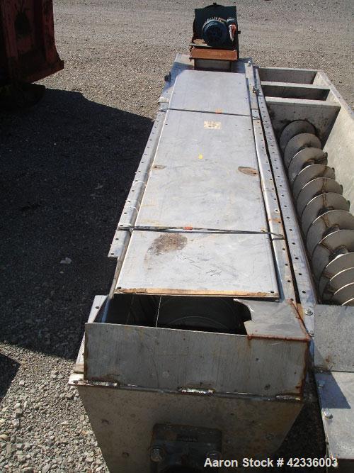 Used- Stainless Steel Link Belt Screw Conveyor