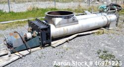 "Used- Twin Screw Conveyor Feeder. (2) Approximate 18"" diameter x 120"" long x 8"" pitch screws. 18"" Diameter top end feed with..."