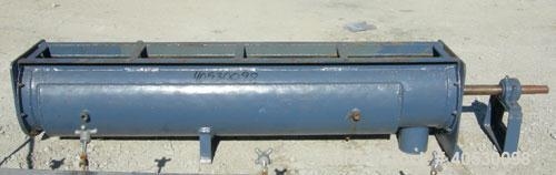 Used- Screw Conveyor, carbon steel. 12'' diameter x 71'' long x 6'' centers. 62'' long section of jacketed trough. 5'' end b...
