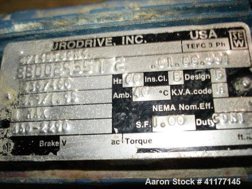 """Used- Inclined Screw Conveyor, Stainless Steel. Approximately 6"""" diameter x 72"""" long screw. End feed and discharge. Driven b..."""