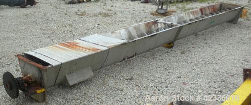 Used- Stainless Steel Ribbon Type Screw Conveyor