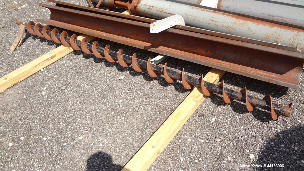 """Used- Screw Conveyor Parts, Carbon Steel, Consisting Of: (12) Approximately 6"""" diameter x 10"""" long screws, on approximate 3""""..."""