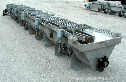 """USED: Screw Conveyor, 304 stainless steel, horizontal. 14"""" diameter x 26' long x 6"""" pitch screw. Approximately 1/2"""" thick Te..."""