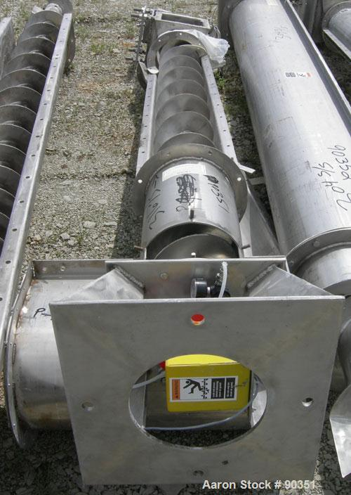 """Unused- Screw conveyor, 316 stainless steel, vertical section.9"""" diameter screw x approximately 102"""" long x 2"""" pitch.Tubular..."""