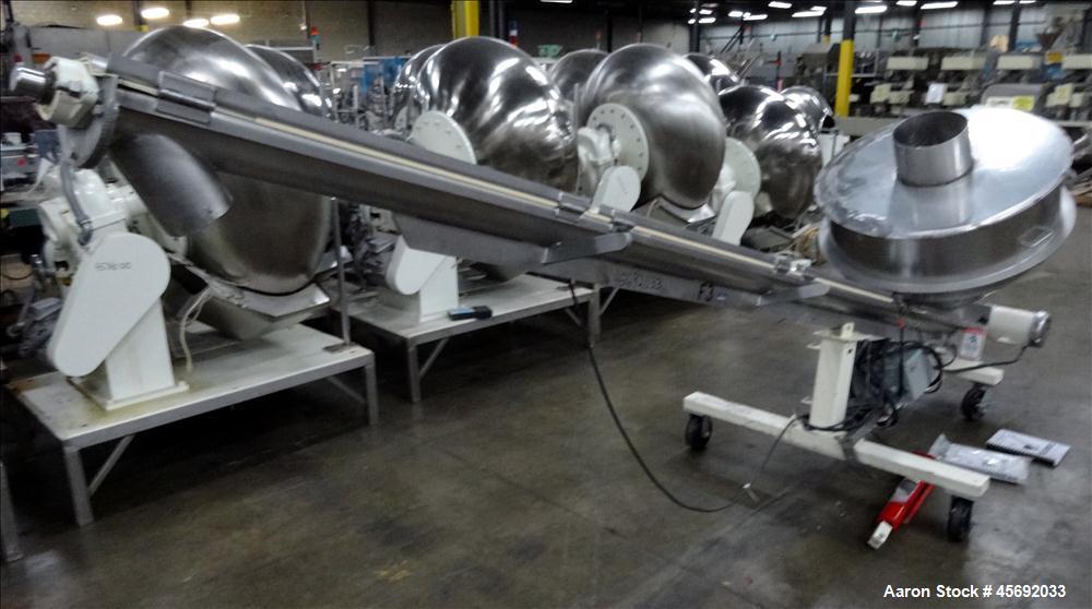 "Used-S. Howes Split Tube Screw Conveyor, Stainless Steel. 4"" diameter x 156"" long screw. Approximate capacity 70 to 120 feet..."