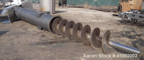 Used- Stainless Steel Starr Vertical Screw Conveyor,