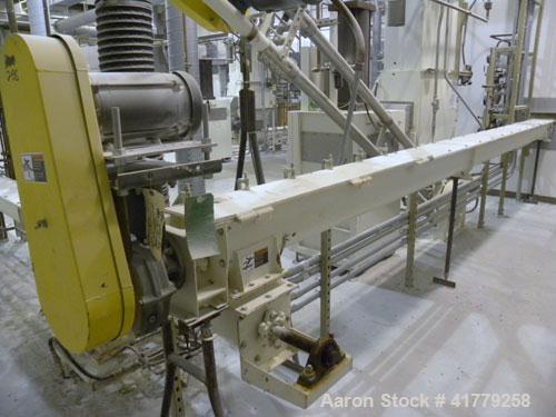 "Used- Thomas Conveyor Company Screw Conveyor. 304 Stainless Steel, Horizontal. 6"" diameter x 329-3/4"" long x 6"" pitch screw...."
