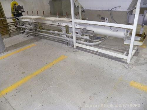 "Used- Thomas Conveyor Company Screw Conveyor. 304 Stainless Steel, Horizontal. 6"" diameter x 120-1/4"" long x 6"" pitch screw...."