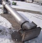 Used- Hydrolift Vertical Screw Conveyor, 304 stainless steel. 16