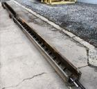 Used- Screw Conveyor, Horizontal. Carbon steel screw 6