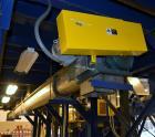 Used- Horizontal Screw Conveyor, Stainless Steel. Approximate 12