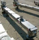 USED: Screw Conveyor, 304 stainless steel, horizontal. 6