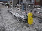 USED: Inclined screw conveyor, stainless steel. 6