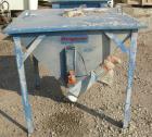 USED: Flexicon incline screw conveyor. Carbon steel hopper 36