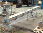 Used- KWS Screw Conveyor, model 6X17-3-1/4, 304 stainless steel, horizontal. 6