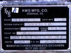 USED: KWS Dual Screw Conveyor/Feeder, 304 stainless steel. (2) 6