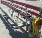 Used- Screw Conveyor, Carbon Steel. Approximately 5 1/2