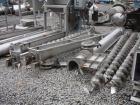 Used- Screw Conveyor, 304 Stainless Steel. 9