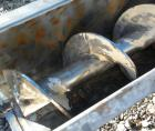 Used- Thomas Conveyor Screw Conveyor, 316 Stainless Steel, Horizontal. 8