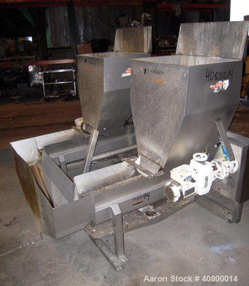 """Used- Vanmark Potato Feeder Consisting of (2) feeders, each equipped with (2) approximate 3 1/2"""" diameter x 42"""" long side-by..."""