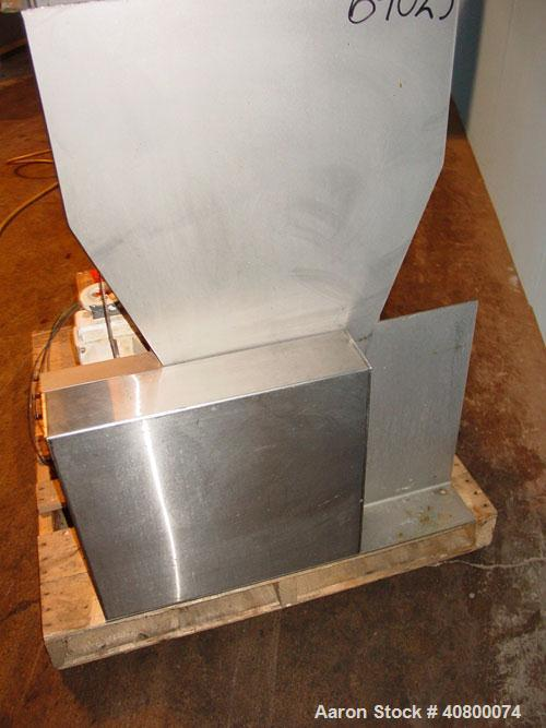 "Used- Vanmark Potato Feeder. (2) Approximate 3 1/2"" diameter x 42"" long side-by-side 316 stainless steel screws. Top feed wi..."