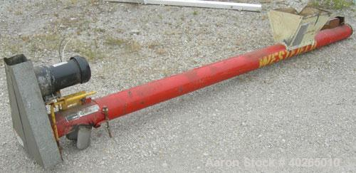 "Used- Westfield Industries Screw Conveyor, Carbon Steel. 6"" diameter x 130"" long x 6"" pitch screw. Approximate 6 1/4"" diamet..."