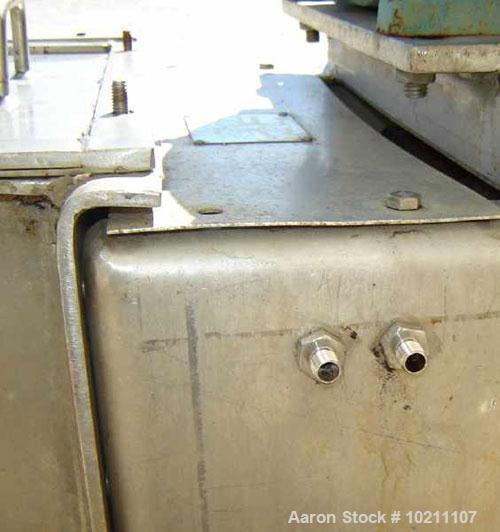 """Used-6"""" X 56"""" Wyssmont Stainless Steel Twin Screw Feeder. Trough width 13"""", graduated flighting from 1.5"""" to 3"""" centers. Dis..."""