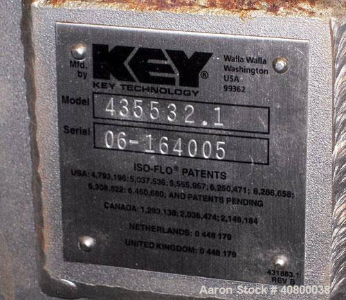 """Used-Key Technology ISO-FLO VibratoryConveyor,Model435532.1,304 stainless steel.Maximum stroke approximately 8"""".Convey..."""